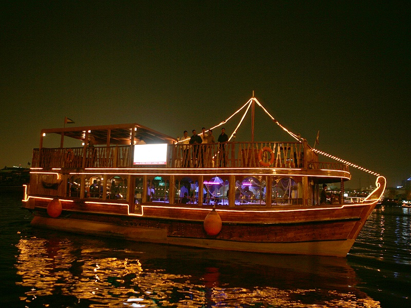 Dubai Dhow Cruise Dinner Creek